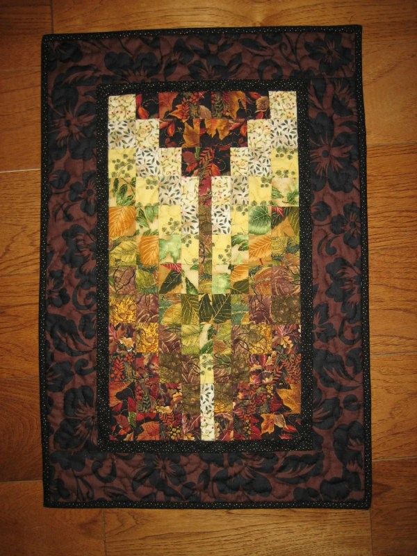 Earth Tones Contemporary Art Quilt Wall Hanging