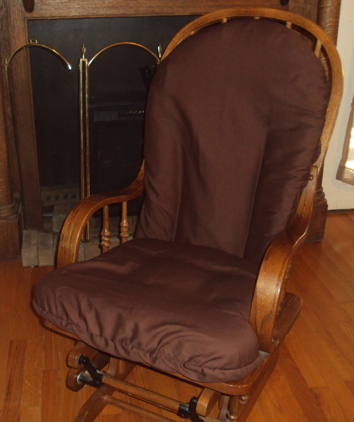 Glider Rocker SlipCover for your cushion Rich Choc Brown