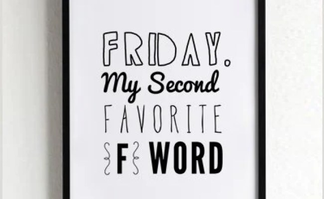 Friday Wall Decor Funny Quote Prints Wall Art Prints