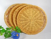 Wicker Paper Plate Holders....Set of 4 Vintage Paper Plate
