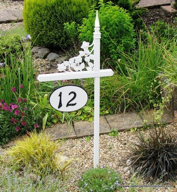 personalized pvc house number sign