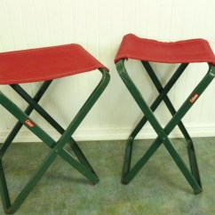 Tall Fishing Chair Herman Miller Rolling Two Vintage Camp Chairs Coleman Camping Stools Set