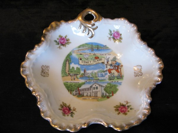 State Souvenir Plate Collectibles Ohio Greenleafvintage1