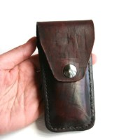Pocket Knife Holder. Leather pocket knife holder for belt