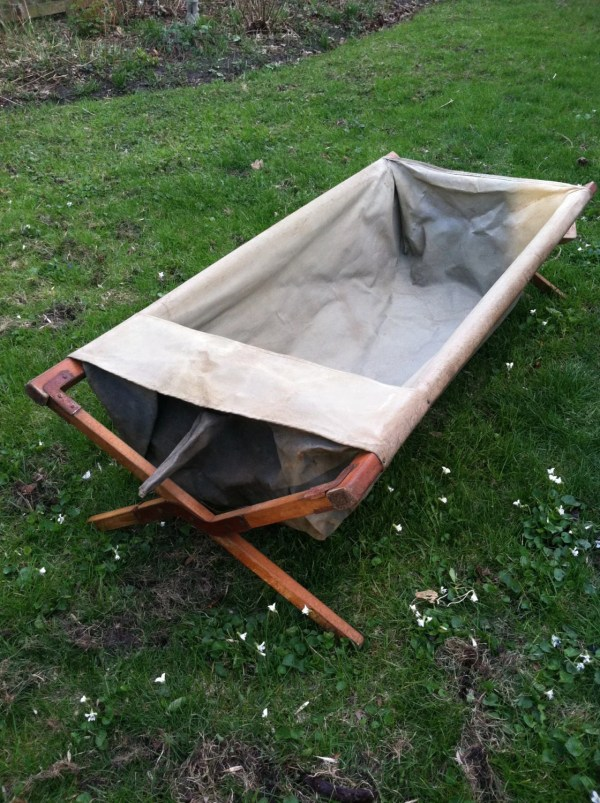 Antique Folding Outdoor Bathtub 1915