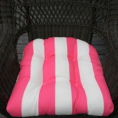 Wicker Chair Cushions With Ties Recliner Riser Chairs Uk Indoor Outdoor Universal Cushion Pink And