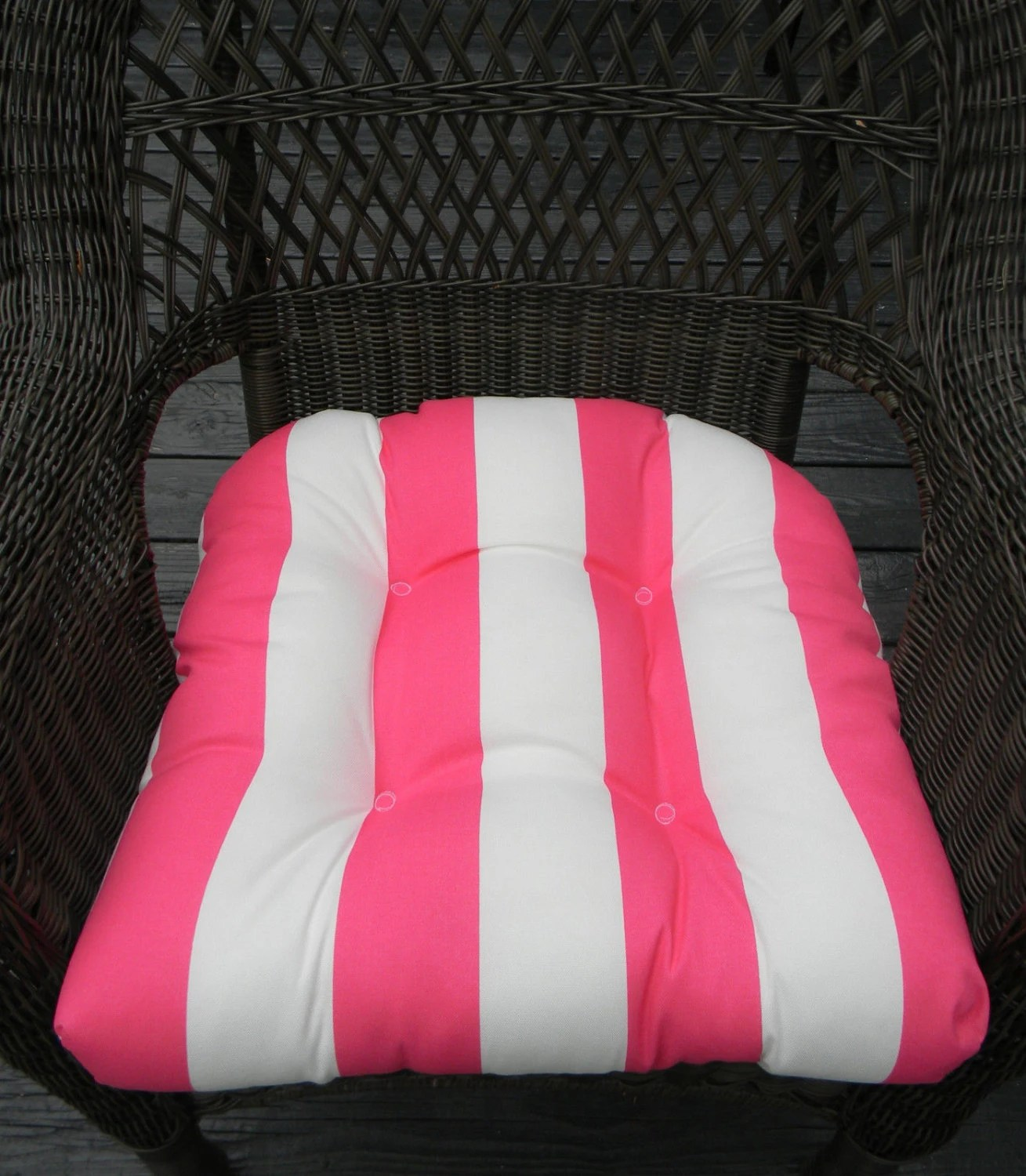 Pink Chair Cushions Indoor Outdoor Universal Wicker Chair Cushion Pink And
