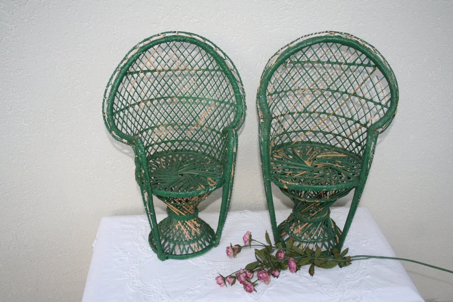 fan back wicker chair office with or without armrest set of vintage rattan doll chairs