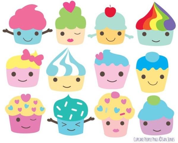 cupcake clip art kawaii cupcakes