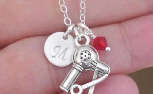 Hairdresser Necklace Hair Stylist Gift Personalized