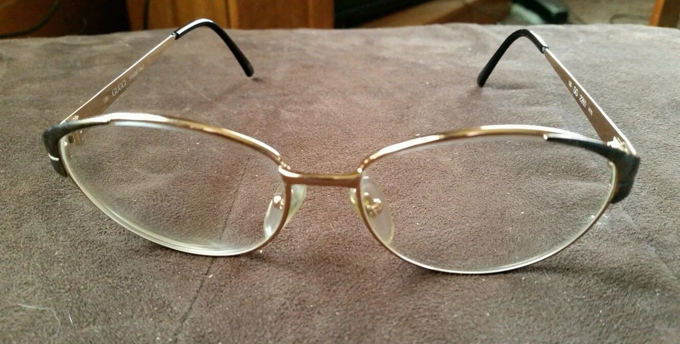Vintage Gold Gucci Eyeglass Sunglasses Frames Haute Juice