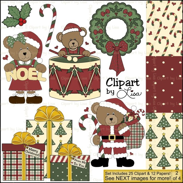country christmas clip art & papers
