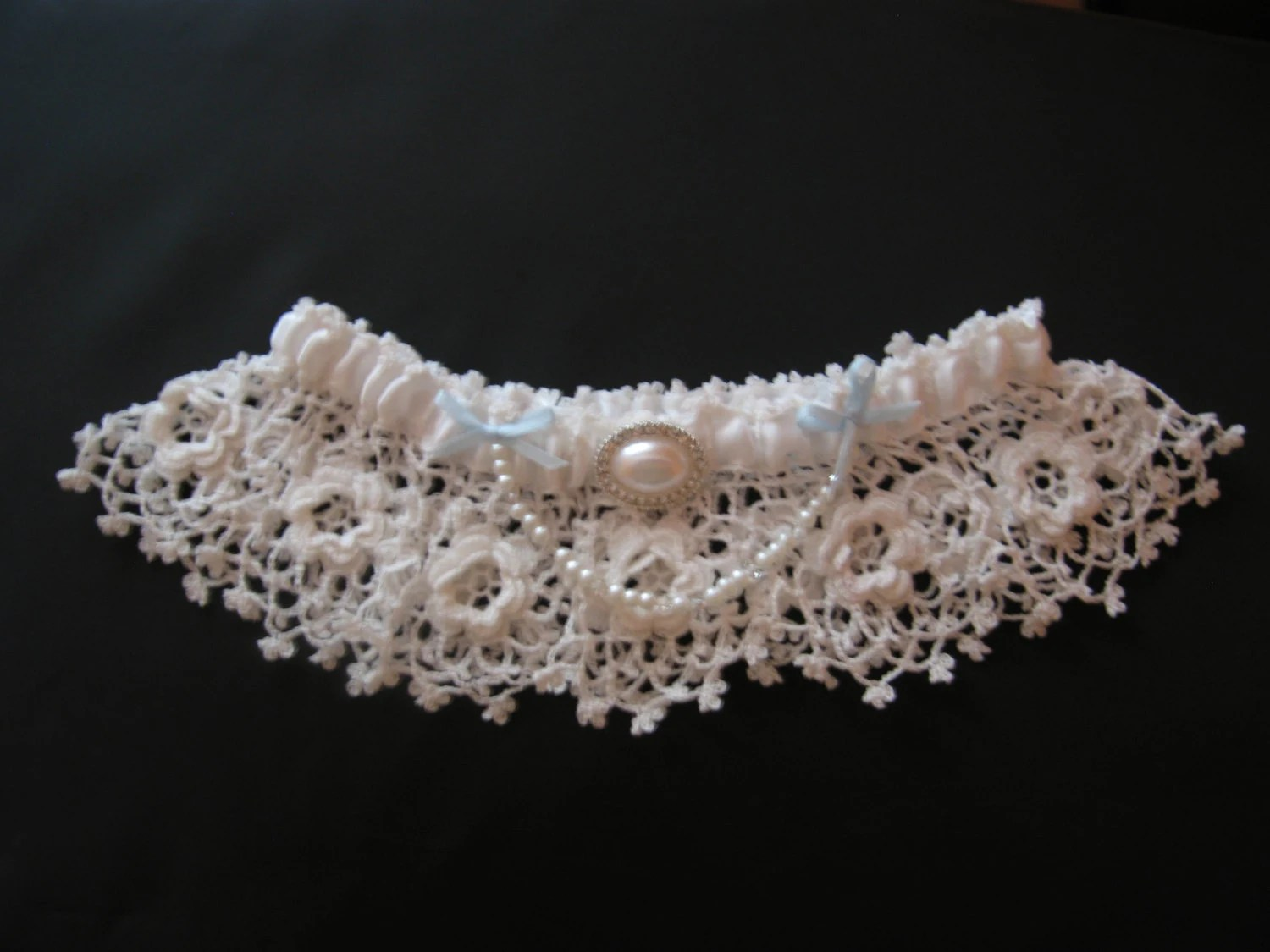 Items Similar To Bridal Garter Fine Crocheted Vintage Lace