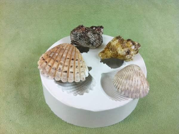 Large Sea Shells Silicone Mold Fondant Gumpaste