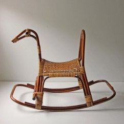 Baby Bamboo Chair Counter Height Chairs Cheap Modern Rattan Wicker Rocking Horse Home Nursery Decor Photo