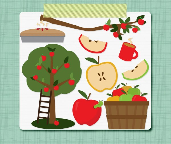 apple picking clipart fall clip