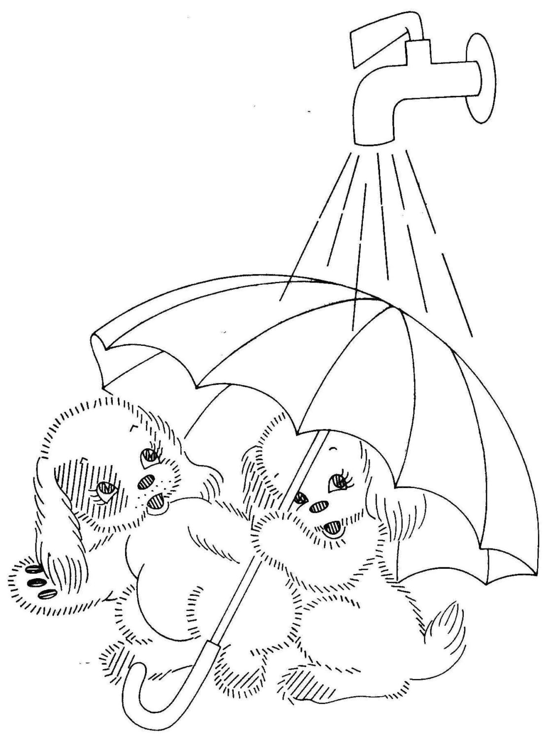 Vintage Hand Embroidery PATTERN PDF File 7259 Adorable Puppies