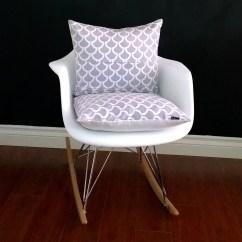 Rocking Chair Cushion Covers Zero Gravity Massage Chairs Eames Cover Grey Bekko