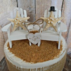 Adirondack Chair Cake Topper Large Cushions Starfish Wedding Beach