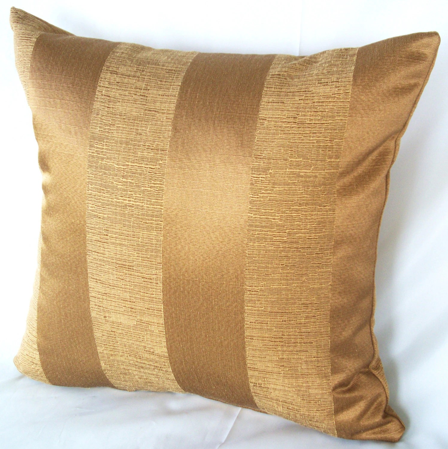 gold sofa throw pillows modern leather set stripe pillow couch cushion cover by