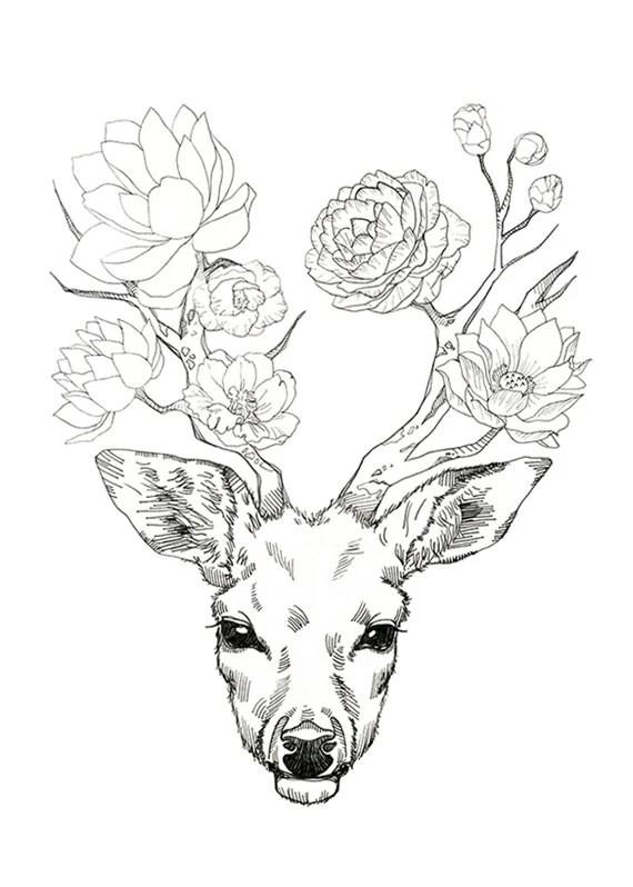 Madame Monsieur fleur de cerf