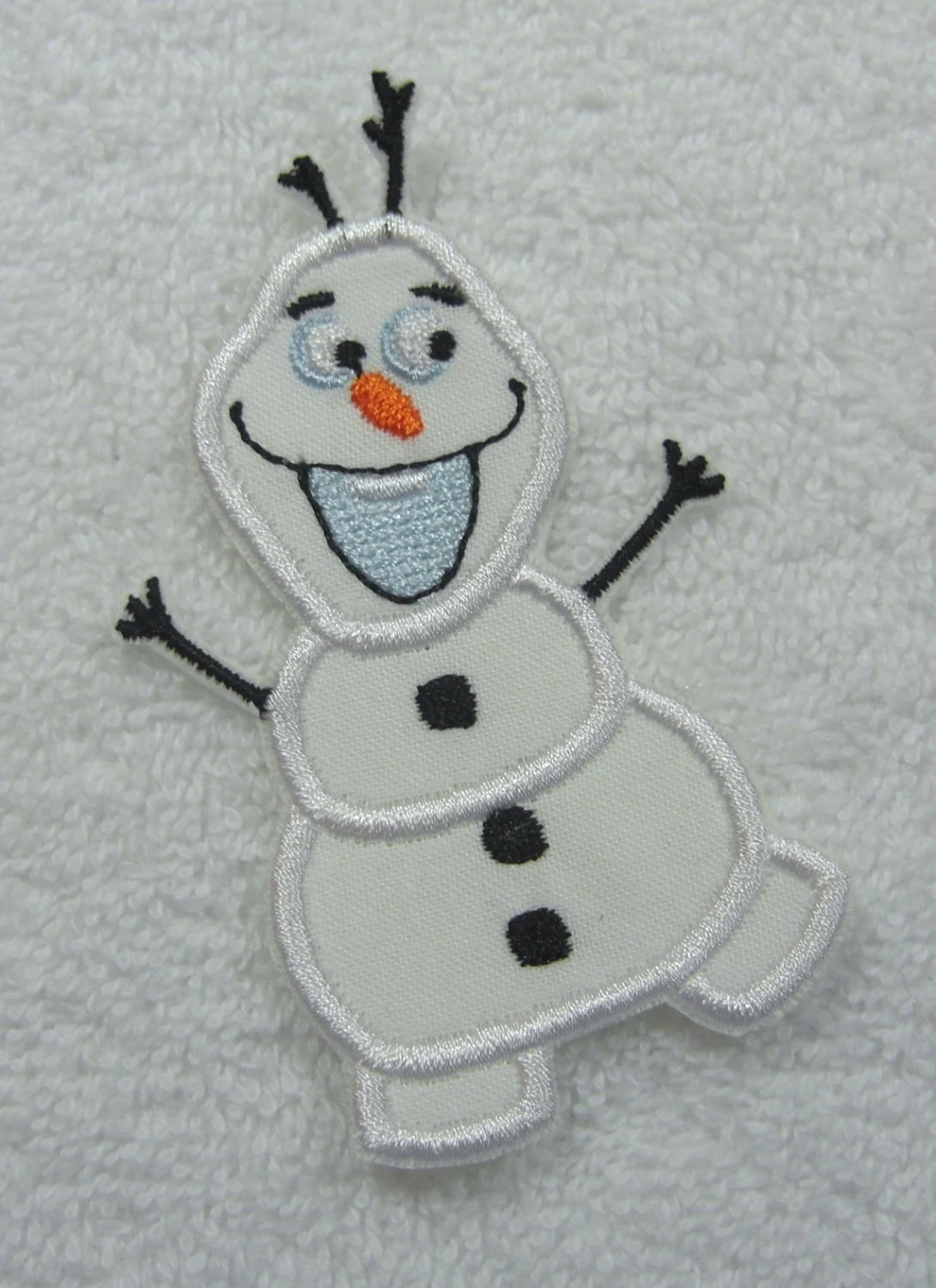 Olaf Snowman Frozen Fabric Embroidered Iron on Applique