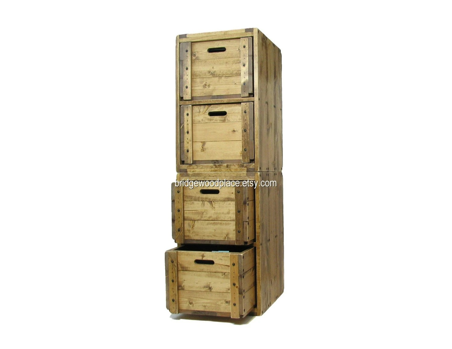 Filing Cabinet 4 Drawer Solid Wood Office File by BridgewoodPlace