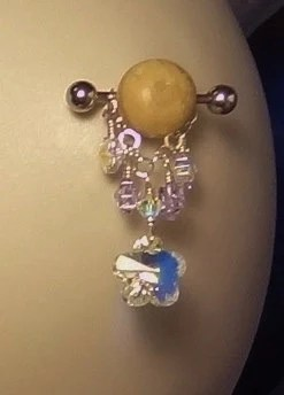 Items similar to Nipple Rings Flower Nipple Rings Nipple Jewelry Sexy Jewelry Crystal Flower