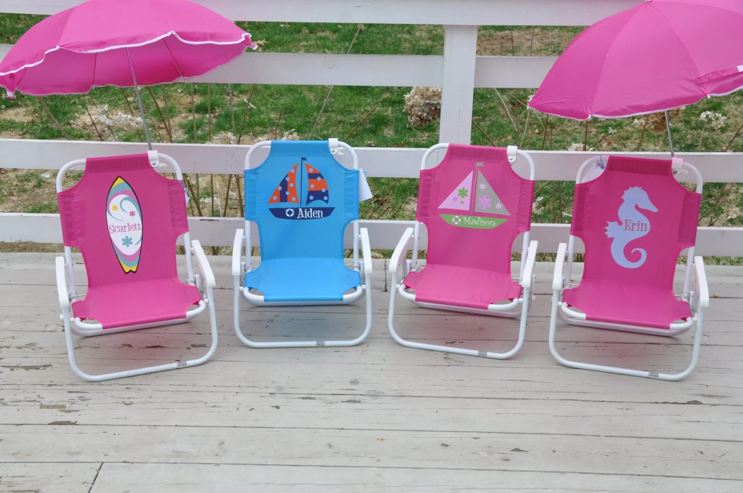 Personalized Childs Beach Chair with by shoppelollipopkids