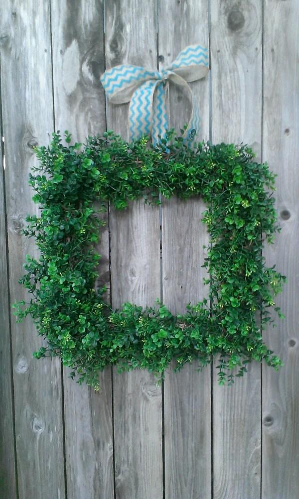 Boxwood Wreath-faux Wreath-square Wreath-year
