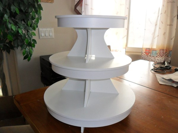 3 Tier Cake Stand Cupcake White Pvc Plastic