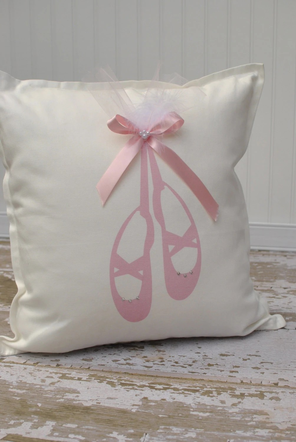 Point Shoes Ballerina Pillow Cover by MonMellDesigns on Etsy