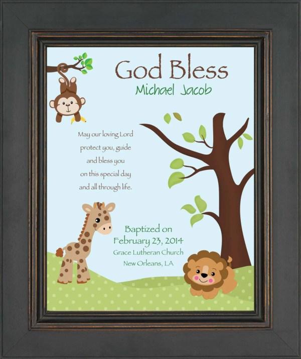 Baptism Personalized 8x10 Print Godson