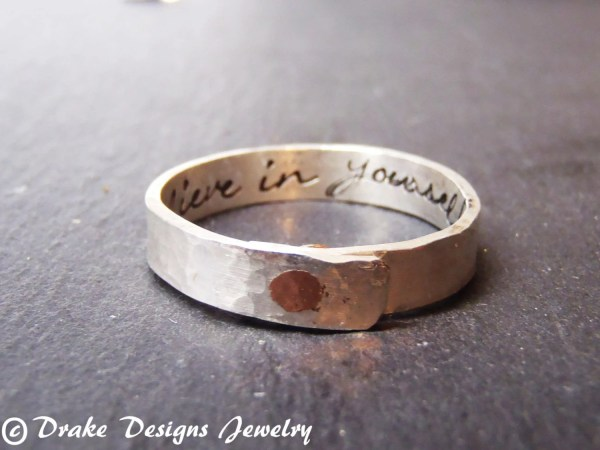 Sterling Silver Secret Message Ring Personalized