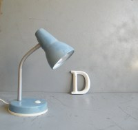 Light blue spot lamp Vintage desk lamp Retro Office