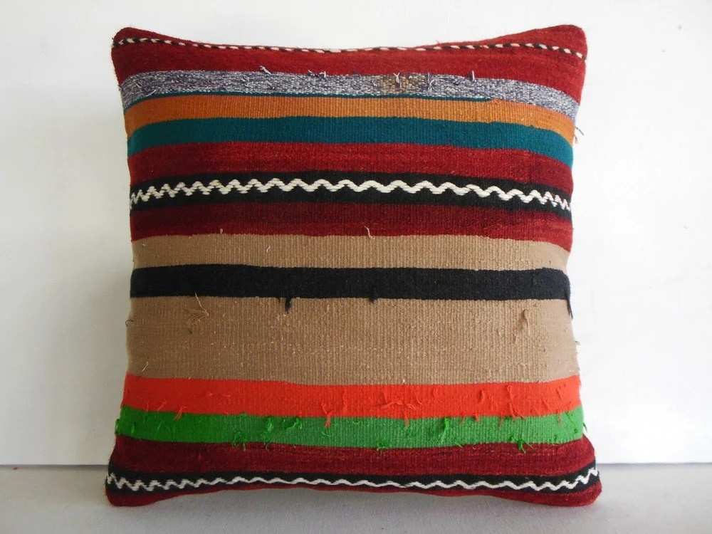 Extra Large Pillow Cover Large Throw Pillow Large Kilim Pillow