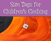 Size Tags for Children'...