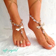 Barefoot Sandals. Beach Sandal Beaded Sandals Sea