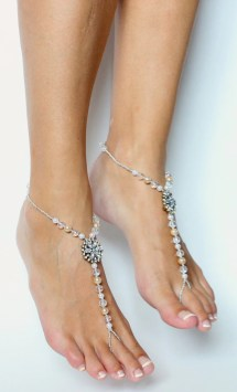 Pearl And Rhinestone Barefoot Sandals Foot Jewelry