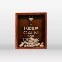 Wine Cork Holder Handmade Shadow Box with by