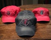 Embroidered Grey Hats to Support Tickled Pink Weimaraner Rescue