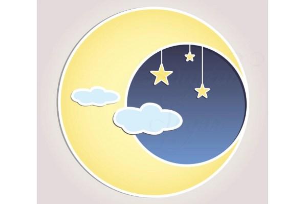 sun moon stars clip art vector