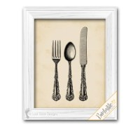 Kitchen & Dining room Wall Decor Silverware Flatware Cutlery
