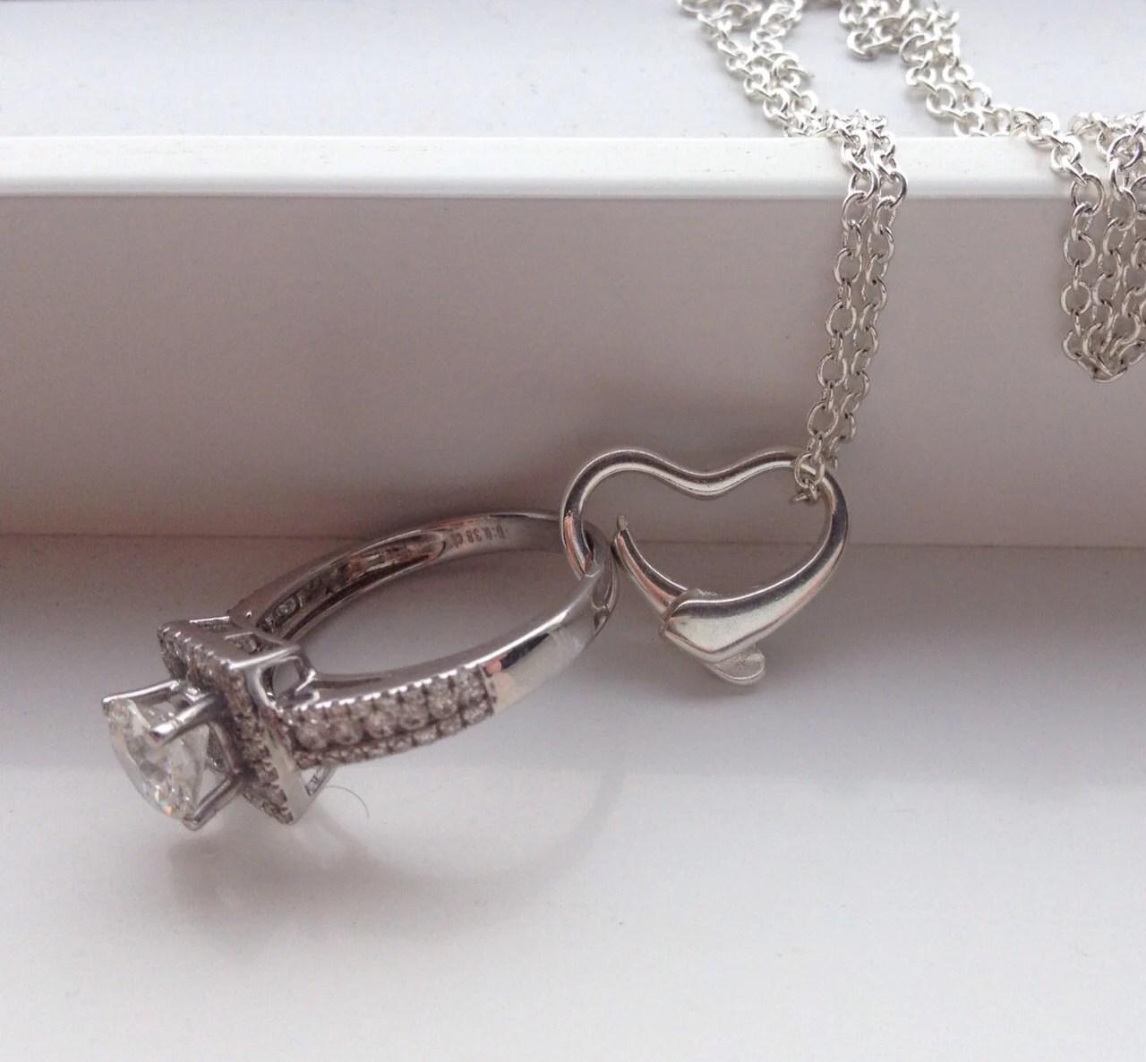 Ring Holder Necklace Wedding Engagementbridal By