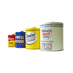 Red Canister Set For Kitchen Open Commercial Design Pillsbury Maxwell House Domino Lipton Canisters J.l