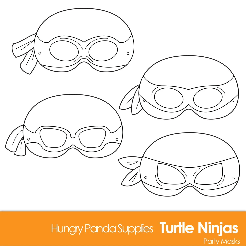 Turtle Printable Coloring Masks Turtle Mask Turtles Ninjas