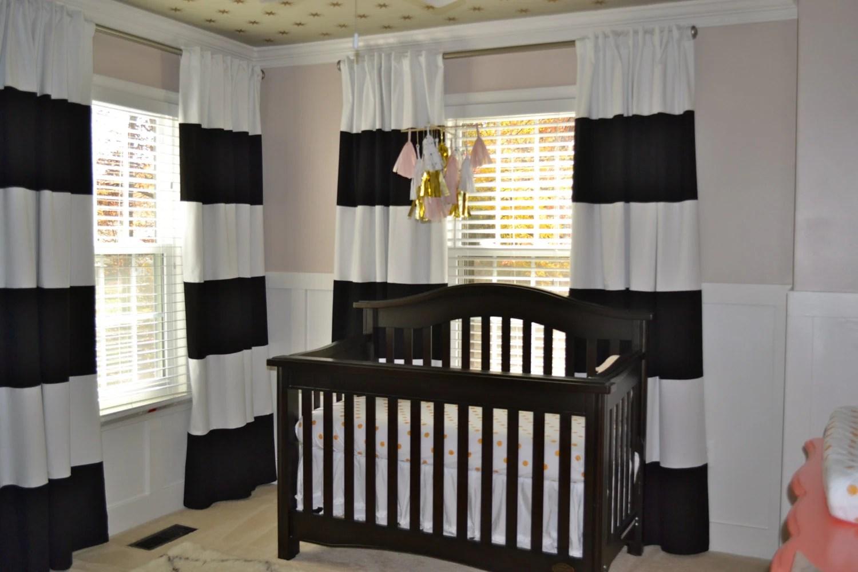 Nice Black And White Horizontal Striped CURTAINS CUSTOM