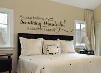 Bedroom Wall Decal Master Bedroom Wall by AmandasDesignDecals