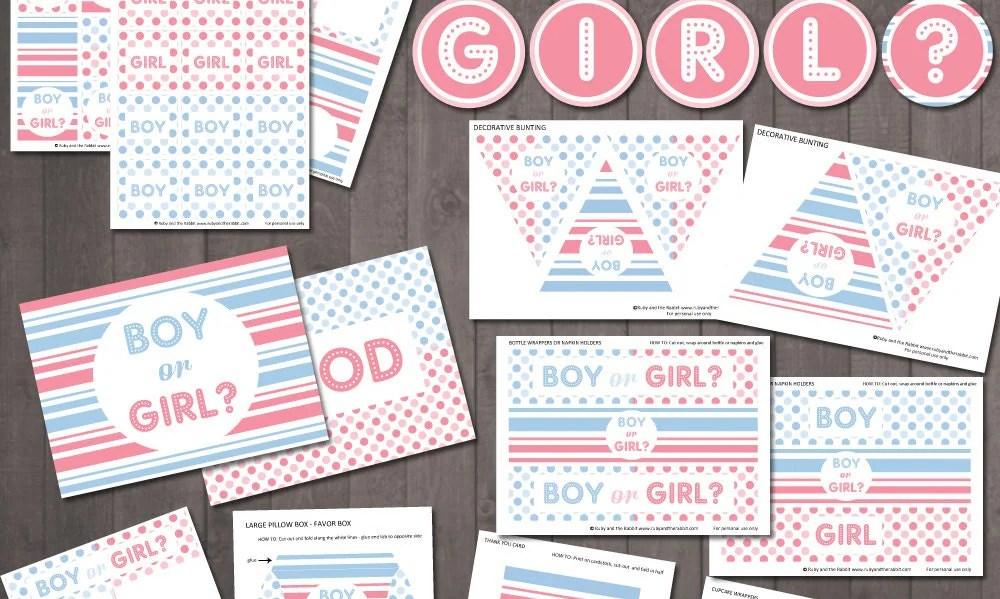 Gender Reveal Party Printables