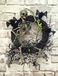 Skeleton Halloween Wreath Skeleton Wreath Halloween Decor